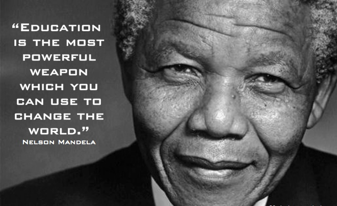Nelson Mandela Education Quote picture